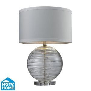 Dimond Lighting DMD HGTV241 Universal Mouth Blown Glass Table Lamp with Hand App