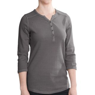 Woolrich Hills Creek Henley Shirt   3/4 Sleeve (For Women)   SLATE (S )