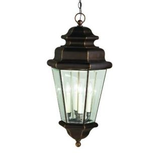 Kichler 9831OZ Outdoor Light, Transitional Pendant 4 Light Fixture Olde Bronze