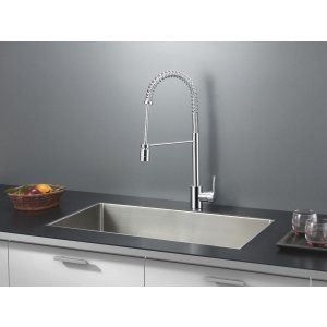 Ruvati RVC2321 Combo Stainless Steel Kitchen Sink and Chrome Faucet Set