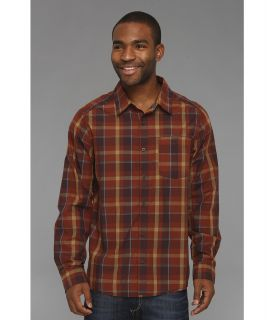 Mountain Hardwear Franklin L/S Shirt Mens Long Sleeve Button Up (Brown)