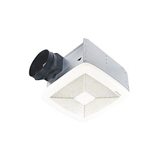 Nutone QTXEN110SFLT Bathroom Fan, 110 CFM Ultra Silent Energy Star Rated w/ Light amp; Humidity Sensing for 6 Duct