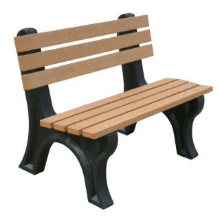 Econo Mizer 4 ft. Commercial Grade Armless Park Bench Green Cedar   ASM EM4B 01