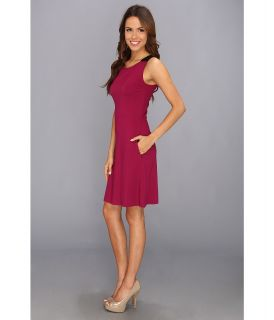 Kenneth Cole New York Skylar Dress Womens Dress (Red)
