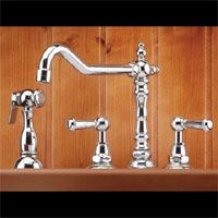 Mico 7760 C3 CP Victorian Two Handle Widespread Kitchen Faucet with Side Spray