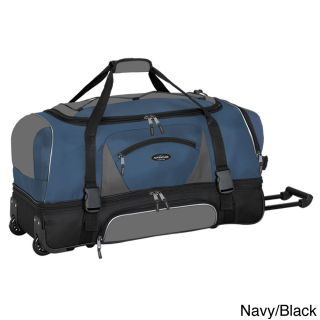 Travelers Club Adventurer Duffel Collection 36 inch 2 section Drop Bottom Rolling Duffel