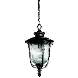 Kichler 49005RZ Outdoor Light, European Pendant 1 Light Fixture Rubbed Bronze