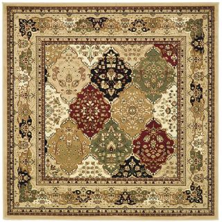 Lyndhurst Collection Multicolor/ Beige Rug (6 Square)
