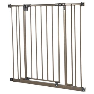 North States Extra Tall Easy close Bronze Metal Gate (MetalTriple locking systemOne handed operationGate swings open both waysSafety JPMA approvedMaterials MetalDimensions 29.25 inches x 3 inches x 37.88 inchesImported )