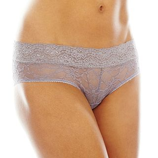 THE BODY Elle Macpherson Intimates Stretch Lace Hipster Panties, Heather Mist