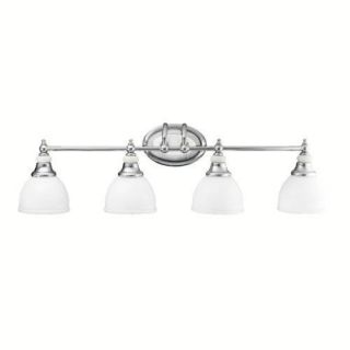 Kichler 5370CH Bathroom Light, Transitional Bath 4Light Fixture Chrome