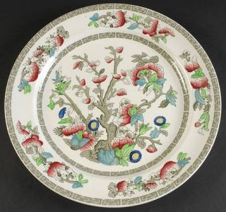 Johnson Brothers Indian Tree (Green Key, Cream) 12 Chop Plate/Round Platter, Fi
