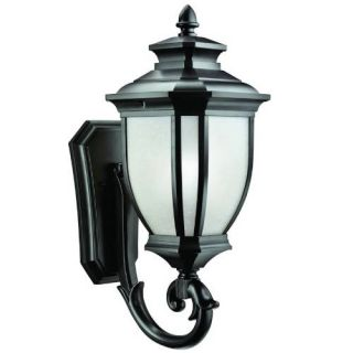 Kichler 9042BK Outdoor Light, Transitional Wall Mount 1 Light Fixture Black (Painted)