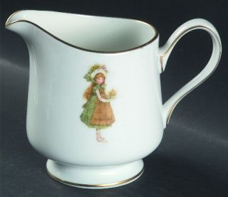 Holly Hobbie Green Girl Creamer, Fine China Dinnerware   Girl In Green Dress Gol