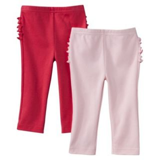 Just One YouMade by Carters Newborn Girls 2 Pack Pant   Pink/Red 12 M
