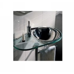 Whitehaus WHMINIAQUA New Generation Glass Counter Top with Basin and Wall Mount