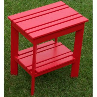 Prairie Leisure Country Cottage Adirondack Side Table   21 RED
