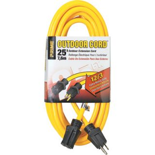 Prime Wire & Cable 125 Volt Outdoor Extension Cord   25ft., Model# EC500825
