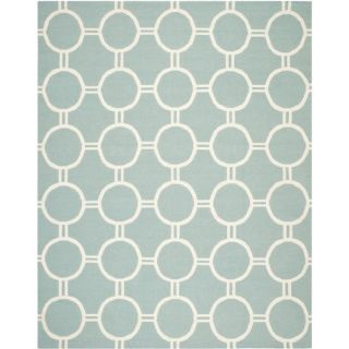 Safavieh Dhurries Light Blue/Ivory Rug DHU636C Rug Size 8 x 10