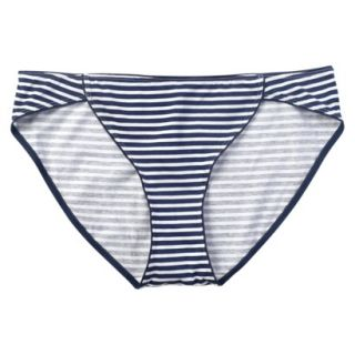JKY By Jockey Womens Cotton Stretch Bikini   Navy Stripe 7