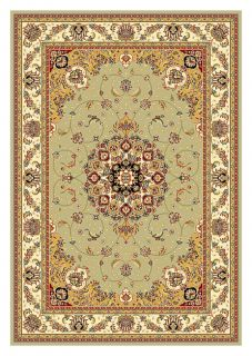 Lyndhurst Collection Sage/ Ivory Rug (53 X 76)