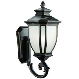 Kichler 9042RZ Outdoor Light, Transitional Wall Mount 1 Light Fixture Rubbed Bronze