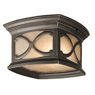 Kichler 49232OZ Outdoor Light, Classic (Formal Traditional) Flush Mount 2 Light Fixture Olde Bronze