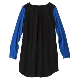 Mossimo Womens Longsleeve Colorblock Sheath Dress  Black/Blue M