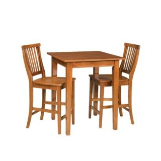 Bistro Set Bistro Arts and Crafts Square Table with 2 Stools