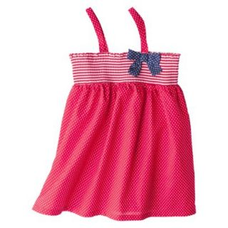 Circo Infant Toddler Girls Polka Dot Swim Cover Up Dress   Red 18 M