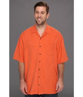 Tommy Bahama Big & Tall Big Tall Bird It Through Grapevine Camp Shirt Mens Short Sleeve Button Up (Orange)