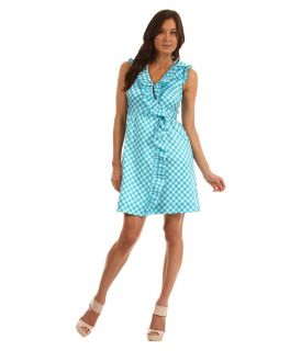 Kate Spade New York Gingham Aubrey Wrap Dress Womens Dress (Blue)