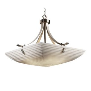 Justice Design Group Porcelina 6 Light Pendant Bowl PNA 9752 25