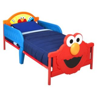 Toddler Bed Delta Childrens Products Sesame Street 3 D Toddler Bed   Elmo