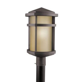 Kichler 9967AZ Outdoor Light, Soft Contemporary/Casual Lifestyle Post Mount 1 Light Fixture Architectural Bronze