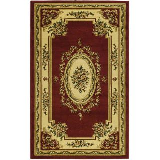 Lyndhurst Collection Red/ Ivory Rug (33 X 53)