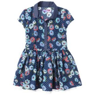 Genuine Kids from OshKosh Infant Toddler Girls Shirt Dress   Deep Water 5T