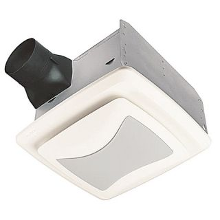Nutone QTREN080FLT Bathroom Fan, 80 CFM Ultra Silent Series w/ Light, Energy Star Rated for 4 Duct