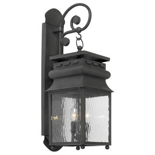 Lancaster 2 light Charcoal Square Lantern style Outdoor Wall Sconce