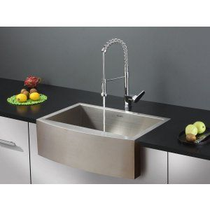 Ruvati RVC1421 Combo Stainless Steel Kitchen Sink and Chrome Faucet Set