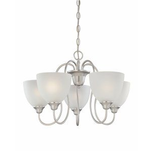 Thomas Lighting THO SL807542 Fenwick Chandelier Matte Nickel 5x100W