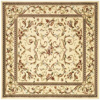 Lyndhurst Collection Traditional Ivory/ Ivory Rug (8 Square)