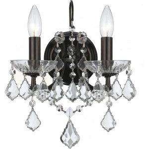 Crystorama Lighting CRY 4452 VZ CL MWP Filmore Filmore 2 Light Clear Crystal Bro