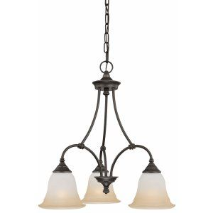 Thomas Lighting THO SL880362 Harmony Chandelier Aged Bronze 3x100W
