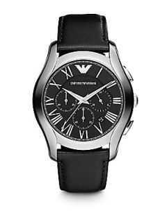 Emporio Armani Scuderia Stainless Steel Chronograph Watch   Black Stainless Stee