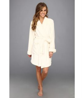 Josie Solid Plush Wrap Womens Robe (White)