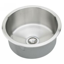 Elkay RLRE12FB Mystic ADA Compliant Top Mount Round Single Bowl Prep Sink