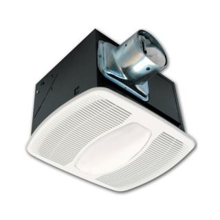 Air King AKF80LS Bathroom Fan, 80 CFM w/ Fluorescent Light for 4 Duct