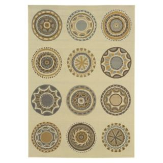 Jodi Medallion Indoor/Outdoor Area Rug (53x76)