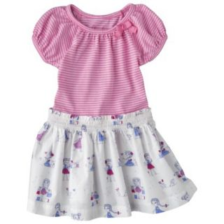 Cherokee Infant Toddler Girls Short Sleeve Dress   Strawberry Shake 3T